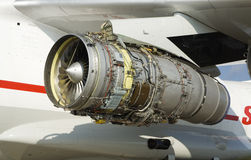 Stripping airplane engine Stock Images