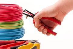 Wire stripping plier Stock Photos