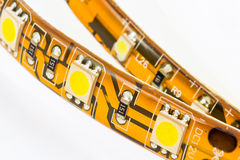 Strips with 3-chip and 1-chips SMD LEDs Royalty Free Stock Photography