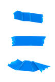 Strips of blue electrical tape Royalty Free Stock Photos