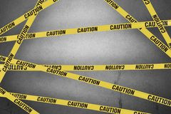 Strips of caution. Create barrier to dangers Royalty Free Stock Images