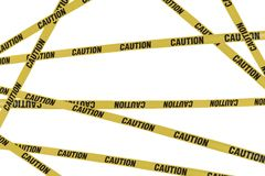 Strips of caution Stock Image