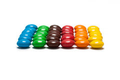 Strips of the chocolate coated candy Royalty Free Stock Image