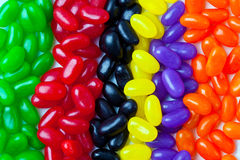 Strips of colored candy Royalty Free Stock Images