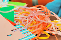 Strips of colored paper Royalty Free Stock Photos