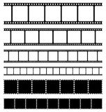 Strips film and stamps set. Strips film and stamps collection vector Royalty Free Stock Photography