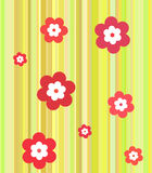 Strips with flowers Royalty Free Stock Image