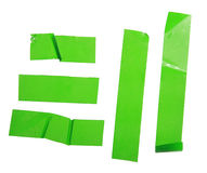 Strips of masking green tape Royalty Free Stock Photo
