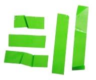 Strips of masking green tape Royalty Free Stock Photo