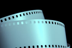 Strips of negative film strip on a dark background Royalty Free Stock Image