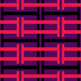 Strips Over Pattern Royalty Free Stock Images