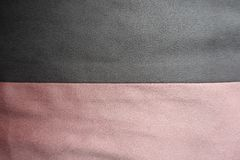 Strips of pink and grey artificial suede sewn together horizontally. Strips of pink and gray artificial suede sewn together horizontally Royalty Free Stock Photos