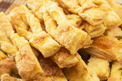 Strips of puff cookies Stock Images
