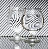 Strips refraction in water Royalty Free Stock Image