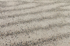 Strips of river sand and pebble Royalty Free Stock Image