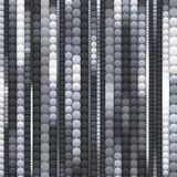 Strips of shiny black and white circles Royalty Free Stock Image