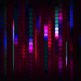 Strips of shiny colored circles Stock Photos