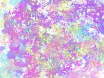 Multicolored abstract background. Strips, spots and points. Multicolored abstract background with watercolor translucent colors done in pastel tones. Perfectly Royalty Free Stock Image