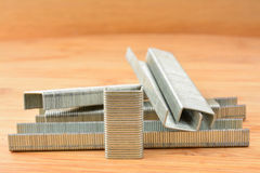 Strips of staples Royalty Free Stock Image