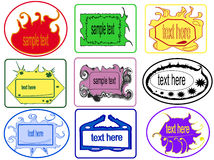 Strips, stickers Stock Images