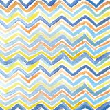 Strips of triangles drawn watercolor Stock Photo