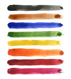Strips of watercolor Royalty Free Stock Image