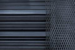 Stript线和daimond铁钢 图库摄影