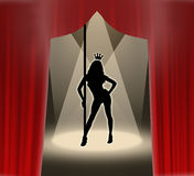 striptease βασίλισσας Στοκ Φωτογραφίες
