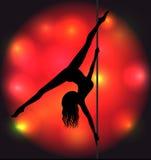 Striptease girl silhouette Stock Photography