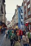 Stripverhaalmuurschildering het schilderen in Brussel, België Stock Fotografie