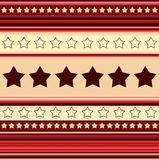 Stripy background with stars - in red Royalty Free Stock Image