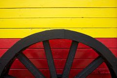 Stripy Beach Cabin detail Royalty Free Stock Photo