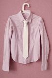 Stripy blouse and tie Royalty Free Stock Images