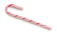 Stripy candy cane Royalty Free Stock Images