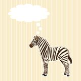 Greeting card with zebra Royalty Free Stock Images