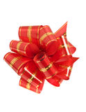 Stripy holiday ribbon for presents and gifts Royalty Free Stock Image
