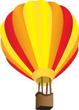 Stripy hot air balloon Stock Image