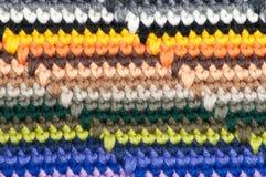Stripy knit background close up close-up Stock Photos