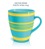 Stripy mug Stock Photos