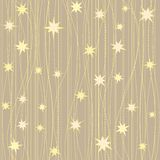 Stripy pattern with stars Royalty Free Stock Images
