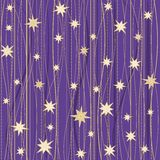 Stripy pattern with stars Royalty Free Stock Photos