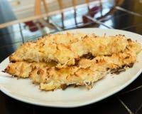 Pollo crostoso della noce di cocco Fotografia Stock