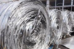 Strisce dell'alluminio da fondersi Fotografia Stock Libera da Diritti