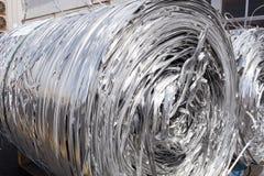 Strisce dell'alluminio dopo il taglio Fotografia Stock