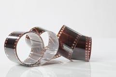 Strisce della pellicola negativa colorata Fotografie Stock
