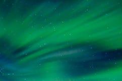 Strisce delle aurore verdi Fotografia Stock Libera da Diritti