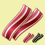 Strisce di bacon Fotografia Stock