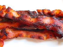 Strisce di bacon fotografie stock