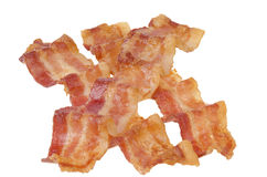 Strisce di bacon fritte Fotografia Stock