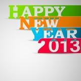 Strisce di carta di nuovo anno felice Immagini Stock Libere da Diritti